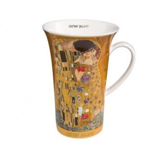 Gustav Klimt Becher, Tasse DER KUSS H. 15cm 500ml Goebel Porzellan