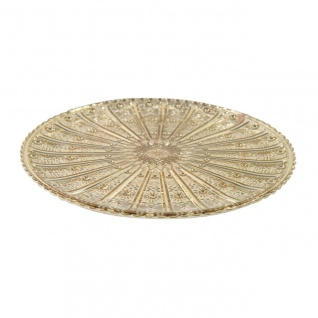 Dekoteller, Glasplatte COLET S gold D. 18, 5cm H. 1, 3cm Decostar WA