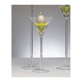 12er Set XXL Martiniglas, Bodenvase auf Fuß H. 50cm D. 25cm rund Sandra Rich