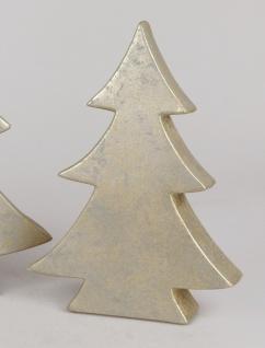 Dekoobjekt TREE Baum RUSTIK H. 40cm champagner gold Keramik Formano W19