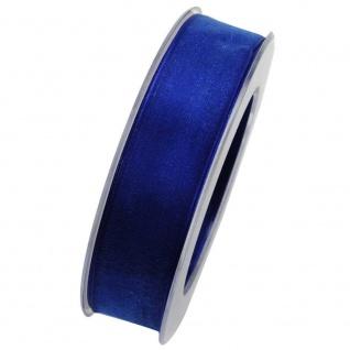Organzaband mit formstablier Kante 25mm blau 20m Rolle (1m=0, 40EUR) Goldina