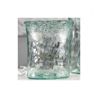 Vase, Windlicht FLORERO S Recycle Glas klar oval H. 27cm Casablanca