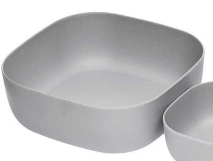 Sch/üssel Silver Silber eckig 10x10cm Natur Design Magu Dippsch/älchen