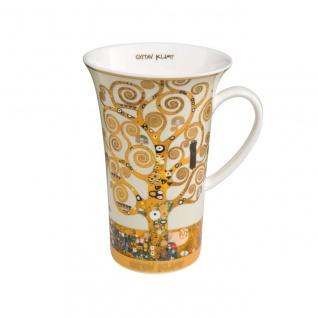 Gustav Klimt Becher, Tasse Der Lebensbaum H. 15cm 500ml Goebel Porzellan