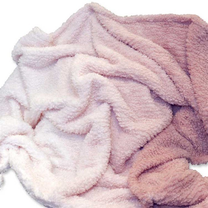 Rosa Kuscheldecke.Kuscheldecke Wohndecke Ivar Ombre 130x160cm Old Pink Rosa Weiss