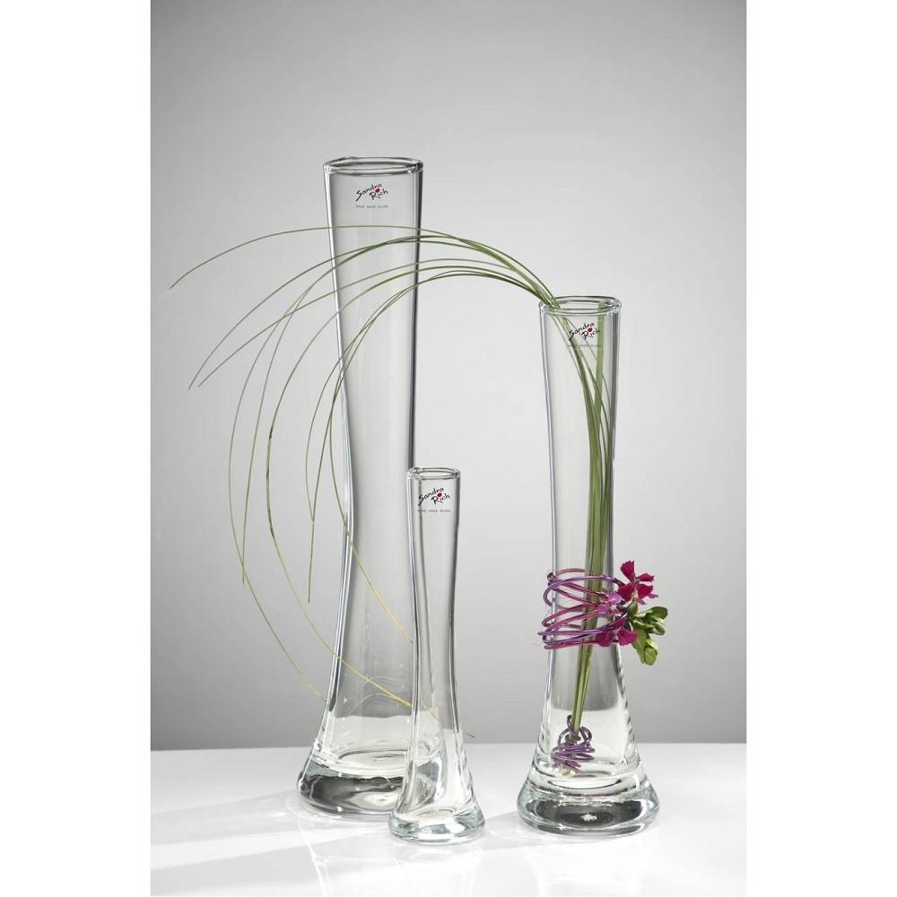 32cm Ø 5cm 8,5cm transparent Sandra Rich Glasvase Blumenvase SOLIFLEUR H