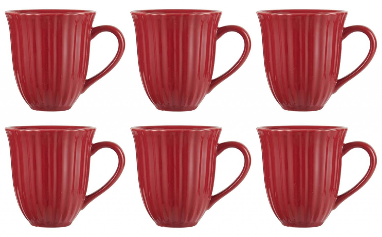 Tasse MYNTE Mustard gelb für 300ml Steingut Ib Laursen 6er Set Kaffeebecher