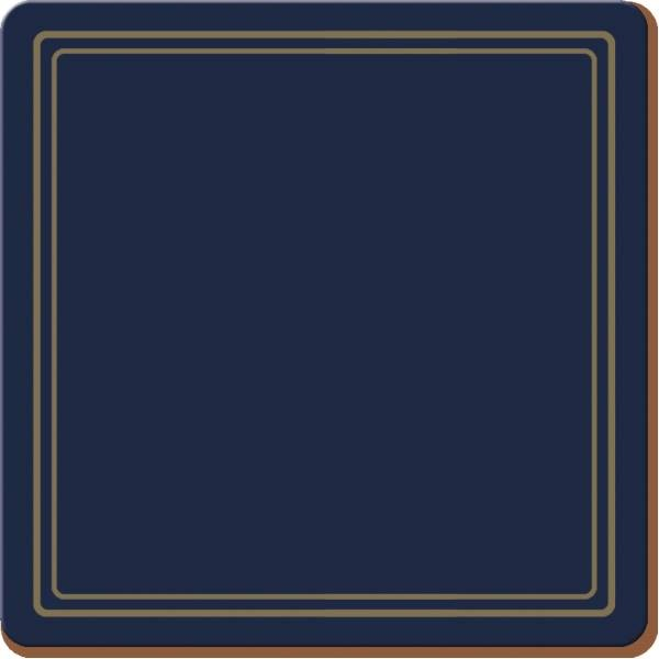 6er Set Untersetzer ABSTRACT blau weiß10,5x10,5cm Creative Tops