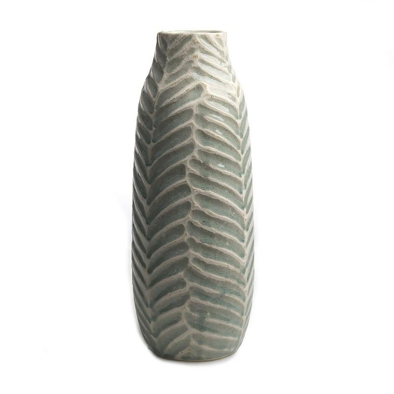 21cm Hendriks Deco Deko Bodenvase SCHIJF schwarz aus Keramik H.52cm D