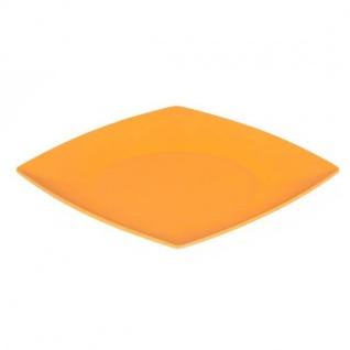 Essteller, Speiseteller Platte eckig flach orange 26x26cm Magu NATUR DESIGN
