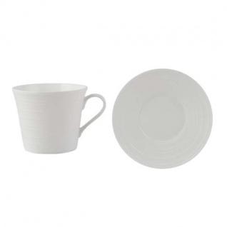 Tasse mit Untertasse MIKASA CIARA 300ml weiß Porzellan rund Creative Tops