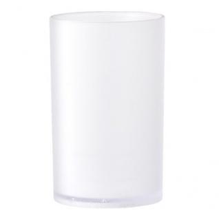Zahnputzbecher WHITE H. 11, 5cm D. 7cm weiß Kunststoff Bloomingville