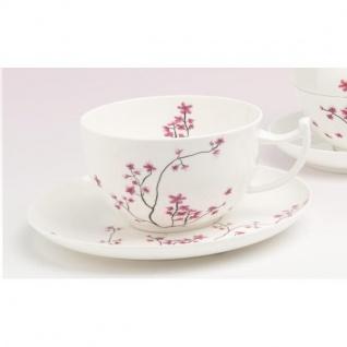 Tasse mit Untertasse CHERRY BLOSSOM Kirschblüten für 500ml Porzellan TeaLogic