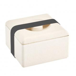 Lunchbox, Brotdose urban grey creme weiß 13x13cm Magu NATUR DESIGN WA