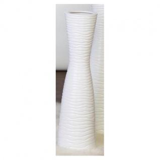 Bodenvase, Deko Vase TAMERA Keramik weiß H. 77cm D. 16cm Casablanca
