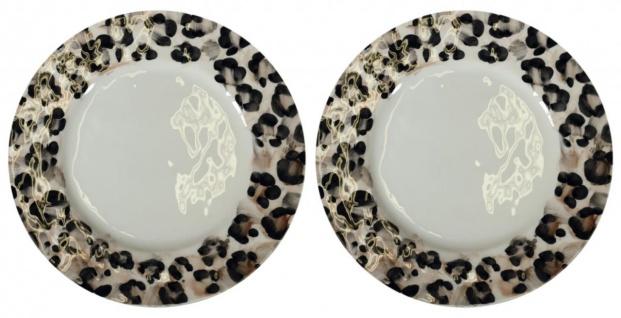 2er Set Essteller, Platzteller SAFARI Leopardenmuster 32cm Virginia Casa