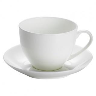 Tasse mit Untertasse CASHMERE VILLA weiß rund Porzellan Maxwell & Williams