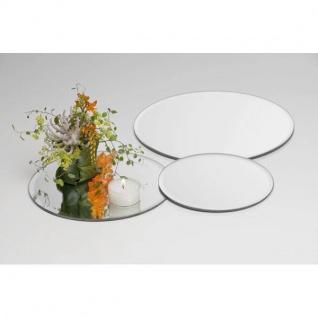 Spiegelplatte, Tischspiegel, Deko Spiegel D. 25cm rund Glas Sandra Rich