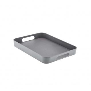 Serviertablett, Tablett, Bambus schiefer grau schwarz 40x30cm Magu NATUR DESIGN