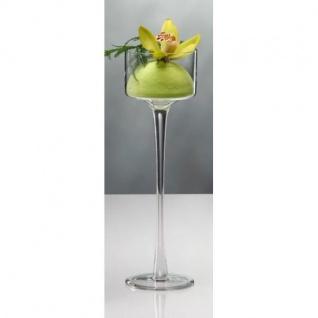6er SET Kerzenhalter, Teelichthalter auf Fuß Glas H. 30cm D. 9cm Sandra Rich