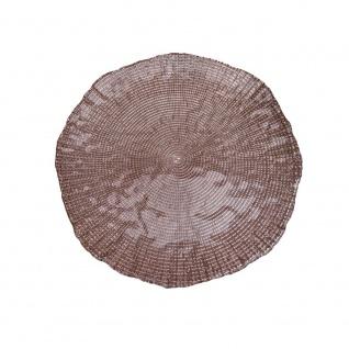 Dekoteller, Dekoplatte LUXOR CHAMPAGNER, gold, Glas, rund, Ø 21cm, Sandra Rich
