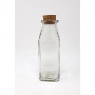 Vorratsglas, Flasche mit Korkverschluss STORAGE BOTTLE eckig H. 17cm Sandra Rich