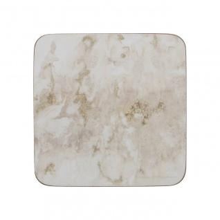 6er Set Untersetzer GREY MARBLE Marmor Kork 10x10cm Creative Tops