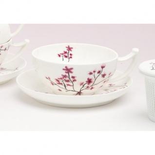 Tasse mit Untertasse CHERRY BLOSSOM Kirschblüten Porzellan 350ml TeaLogic