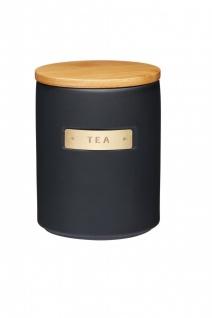 Teedose MASTER CLASS schwarz für 900ml mit Holzdeckel KitchenCraft