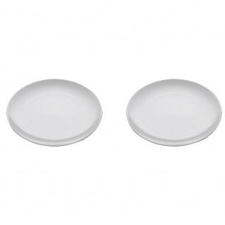 2er SET Platzteller WHITE BASICS ROUND D. 30, 5cm weiß Maxwell & Williams