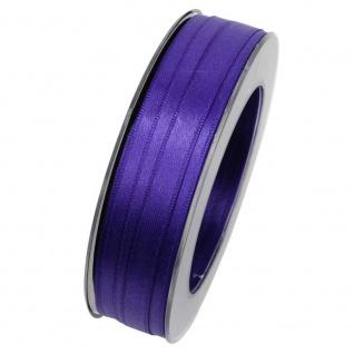 Doppelsatin Stoffband Schleifenband 10mm (1m=0, 20EUR) lila 25m Rolle Goldina