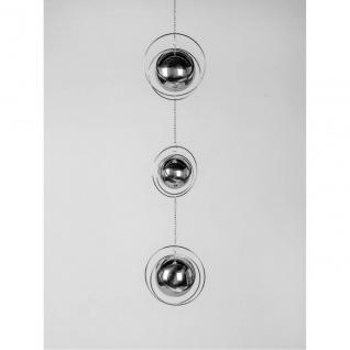Deko Hänger, Girlange BALL L. 80cm Spirale mit Kugel silber Metall Formano F20