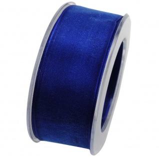 Organzaband mit formstablier Kante 40mm blau 20m Rolle (1m=0, 43EUR) Goldina