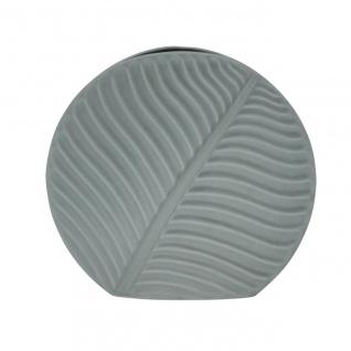 Deko Vase BANANA LEAF Blatt small grau H. 18cm 19, 5x4, 5cm Keramik Sandra Rich WA