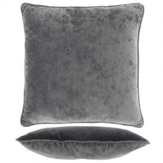 Kissen mit Füllung FREY 45x45cm dark grey grau Unique Living