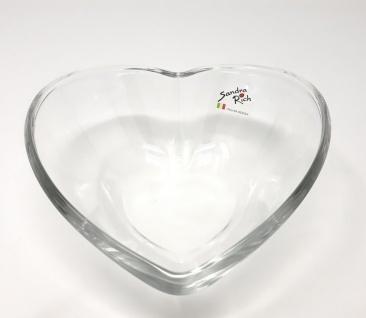 Glasschale, Glasteller, Dekoschale HEART HERZ D. 16cm transparent Sandra Rich