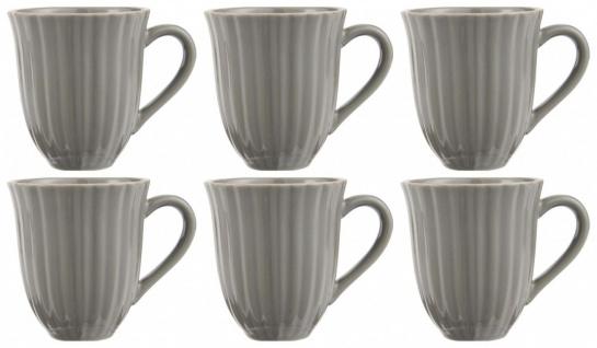 6er Set Kaffeebecher, Tasse MYNTE Mustard Granite für 300ml Steingut Ib Laursen