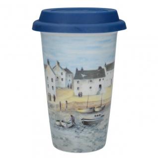 maritimer Kaffeebecher to go CORNISH HARBOUR blau 350ml Creative Tops