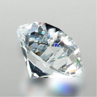 Deko Diamant klar D. 4cm Glas geschliffen Formano