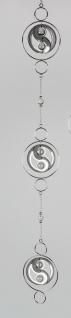 Deko Hänger, Girlande Yin-Yang L. 114cm silber Metall Formano F20