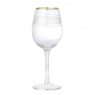 Weinglas ROYAL H. 22, 5cm D. 9cm mit Echtgoldauflage Glas Bloomingville WA
