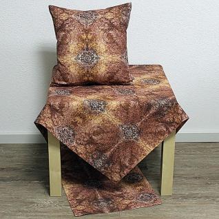 Tischdecke Mitteldecke Barroc Ornamente rost braun 85x85cm Hossner WA