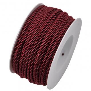 Kordelband, Atlaskordel Seil gedreht 3mm dunkelrot 25m Rolle (M=0, 20EUR) Goldina