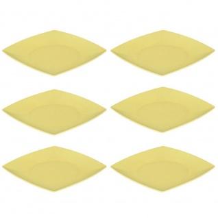 6er SET Speiseteller, Platten quadratisch gelb 26x26cm Magu NATUR DESIGN