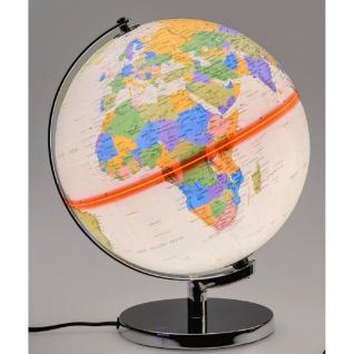 Dekoobjekt, Lampe Globus H. 32cm mit Licht creme bunt Formano WA