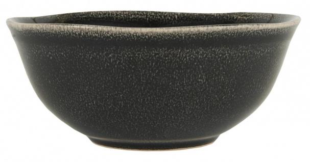 Müslischale ANTIQUE BLACK DUNES H. 6cm D. 14, 5cm schwarz aus Steingut Ib Laursen