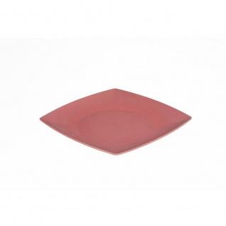 Essteller, Speiseteller Platte eckig flach rot 26x26cm Magu NATUR DESIGN