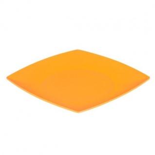 Teller, Platte flach eckig 21cm orange Magu NATUR DESIGN WA
