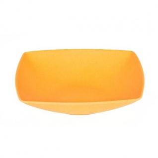 Suppenteller, Müslischale quadratisch orange 18x18cm H. 4cm Magu NATUR DESIGN