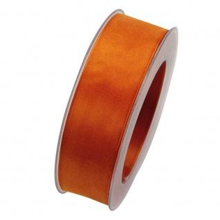 Organzaband mit formstablier Kante 25mm orange 20m Rolle (1m=0, 40EUR) Goldina
